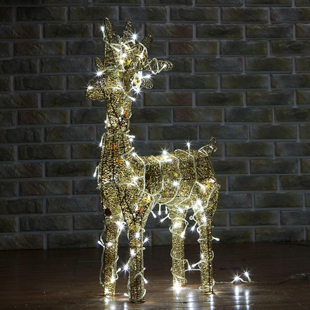 크리스마스 사슴 LED 장식 트리 소형 50cm 장식품 LED조형물 뼈대 사슴장식