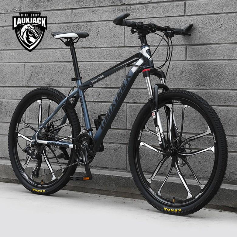 입문용 산악 MTB 바이크 Lauxjack 자전거 대륙 가성비 자전거, 26인치cm, 10Spoke-그레이 + 24단
