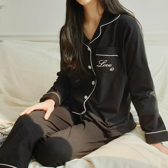 올썸 사랑은 러브이즈 D105 홈웨어 빅사이즈 파자마 커플잠옷