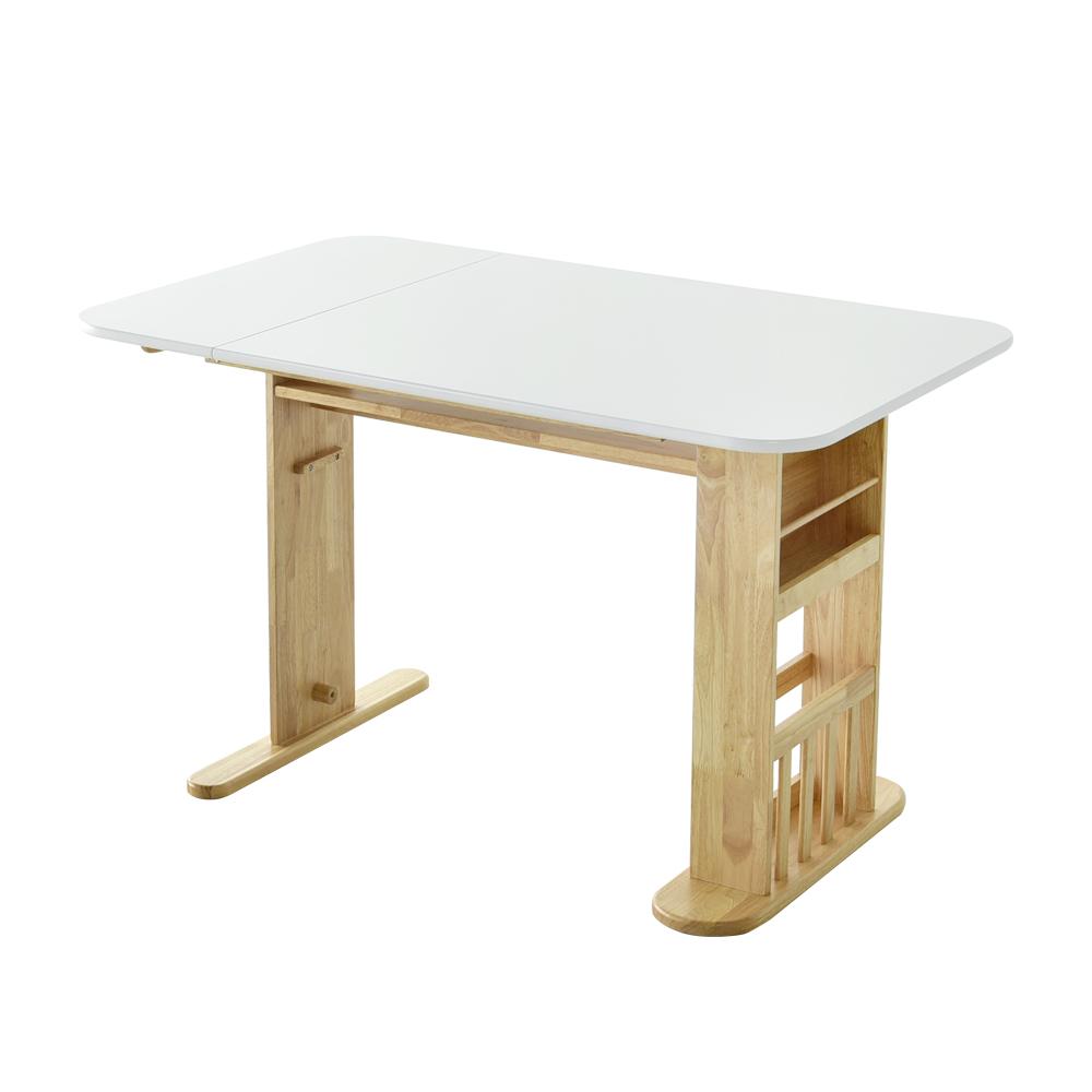레트로하우스 비아 원목 확장형 접이식 수납 테이블(단품), 식탁테이블_네추럴