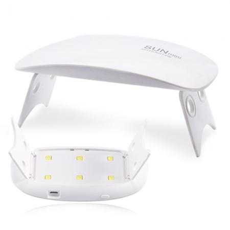 슈프림 글라스 SUN MINI2 UV LED 젤네일 램프, 1개, 화이트