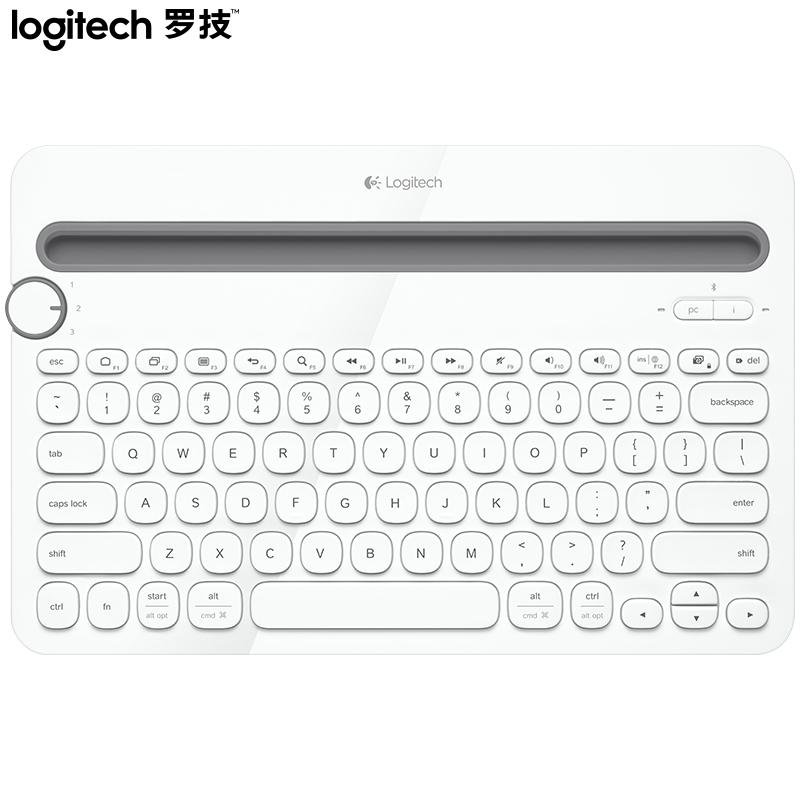 로지텍 K480 사무용 무선 블루투스 키보드 무선키보드, 화이트