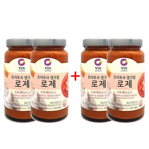 2+2 [조이스몰] 청정원 [쉐프추천] 로제스파게티소스600g, 1세트