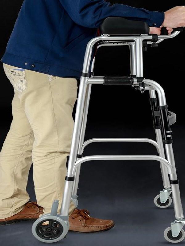 하이따거 어르신 노인 걸음마보조기 고급형 스탠딩 바퀴형목발, 1캡슐