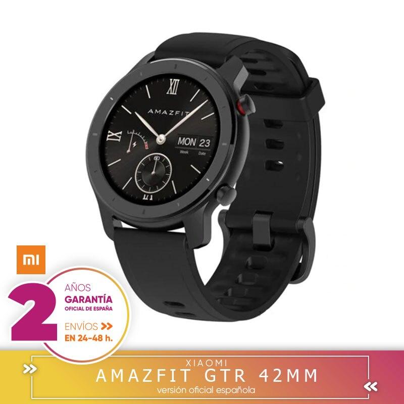 Garanta a Plaza Amazfit GTR 42mm 버전 global reloj inteligente Smartwatch GPS Control de musica Android 샤오미 telefono IOS 스마트 시계 , 단일(A1), 빨간(A1)