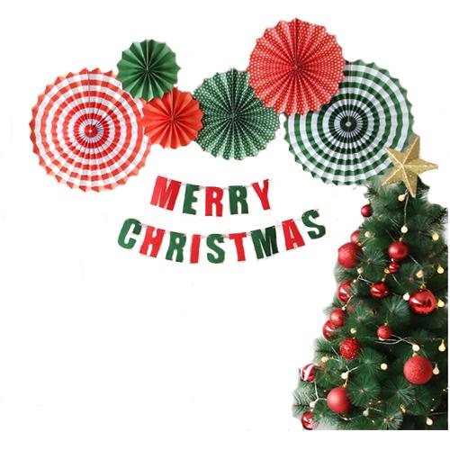 크리스마스 심플 파티 장식세트, 1세트, 혼합색상