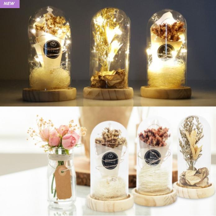 40대엄마 생일선물 독특한선물 분위기전환 드라이플라워 무드등 인테리어 LED, 추억 (POP 4972696008)