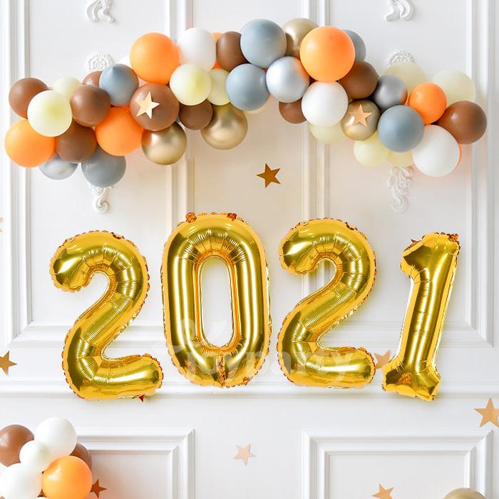 제이벌룬 크리스마스 은박풍선, 숫자풍선 2021 중 골드