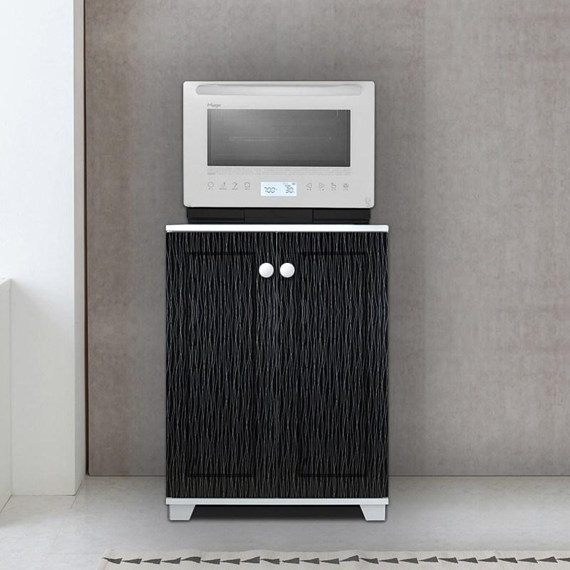 티디팩토리 광파오븐렌지대 밥솥수납장 전자렌지수납장 정수기다이, 600렌지대/올문-블랙