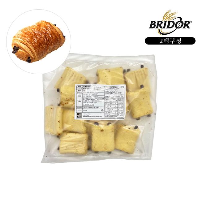 브리도 크로와상 냉동생지 베이커리빵 에어프라이어 전용 모닝빵 디저트 미니 뺑오쇼콜라 2팩, 25g