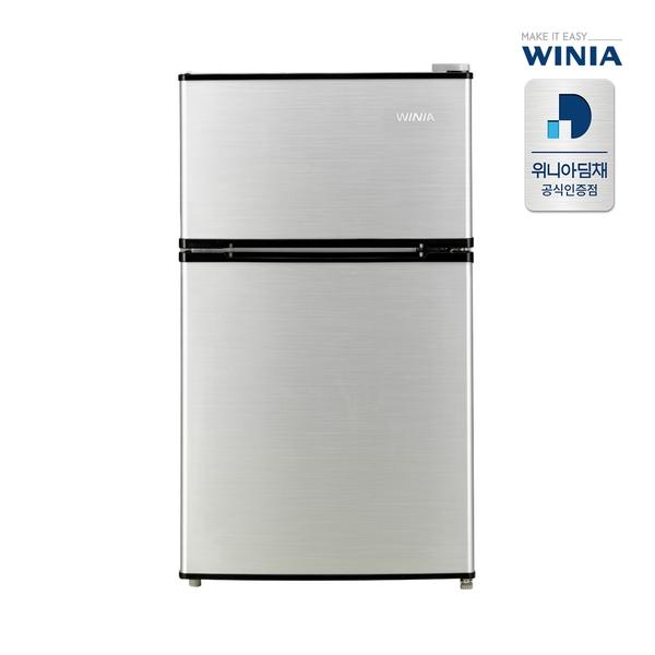 위니아 87L 1등급 소형냉장고 WRT09DS [실버/2Room], 단일상품