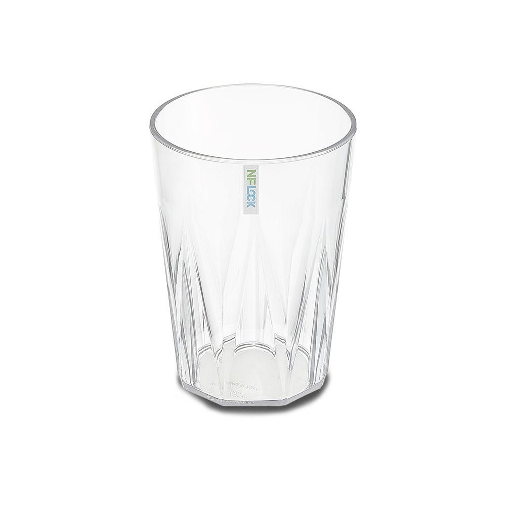 엔에프락 트라이탄컵 안깨지는 투명 물컵 10개, 투명/탑
