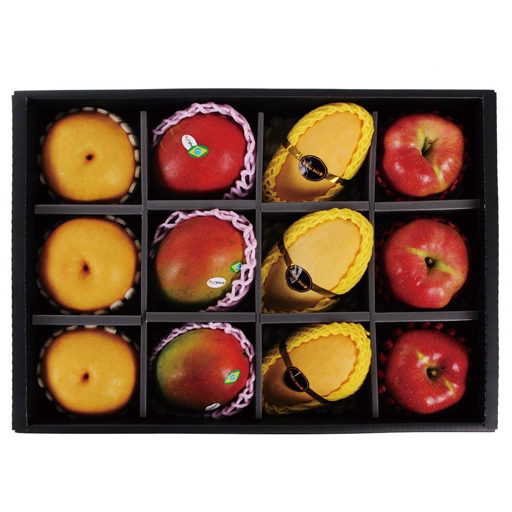 명일원 명품 애플망고 사과 배 혼합 과일 세트