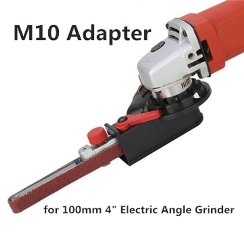 DIY M10 M14 샌딩 벨트 어댑터 부착물 100 115 125mm 전기 앵글 그라인더를 벨트 샌더 목재 금속 작업으로 변환, 협력사 (POP 5582127923)