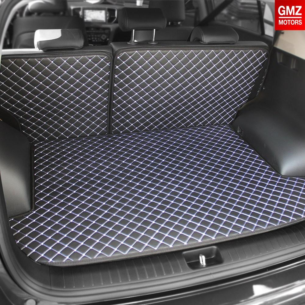 GMZ 퀼팅가죽 4D 차박매트 트렁크매트+뒷열커버 풀세트 방수코팅 카매트 자동차매트, 블랙 (추가정보란에 차종명 및 차량연식 작성)