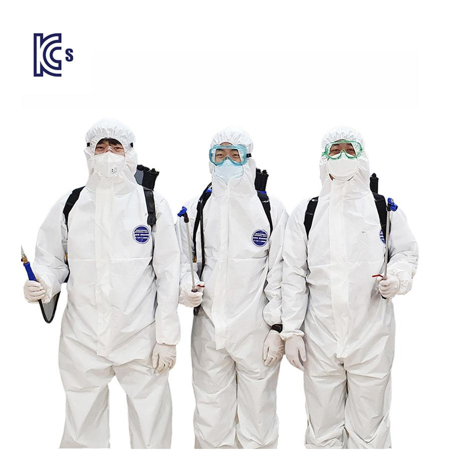 국내산 레벨D 5형식 에이스가드 방호복 방역복 방진복 방제복 화이트