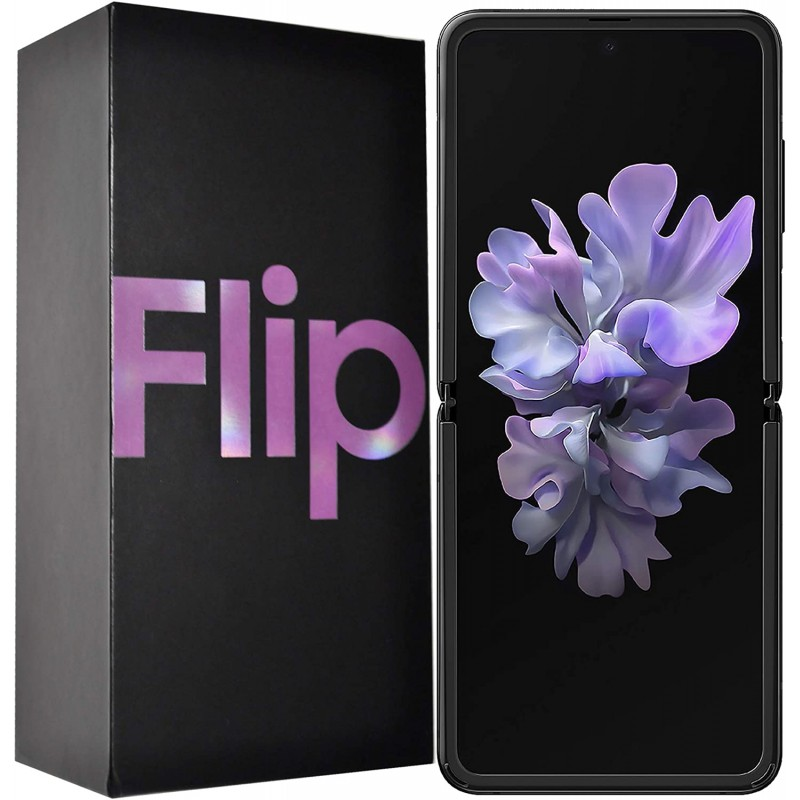 갤럭시 폰 Samsung Galaxy Z Flip SM-F700F/DS 256GB SIM Free Factory 잠금 해제 Android 4G/LTE 스마트, 단일옵션, 단일옵션