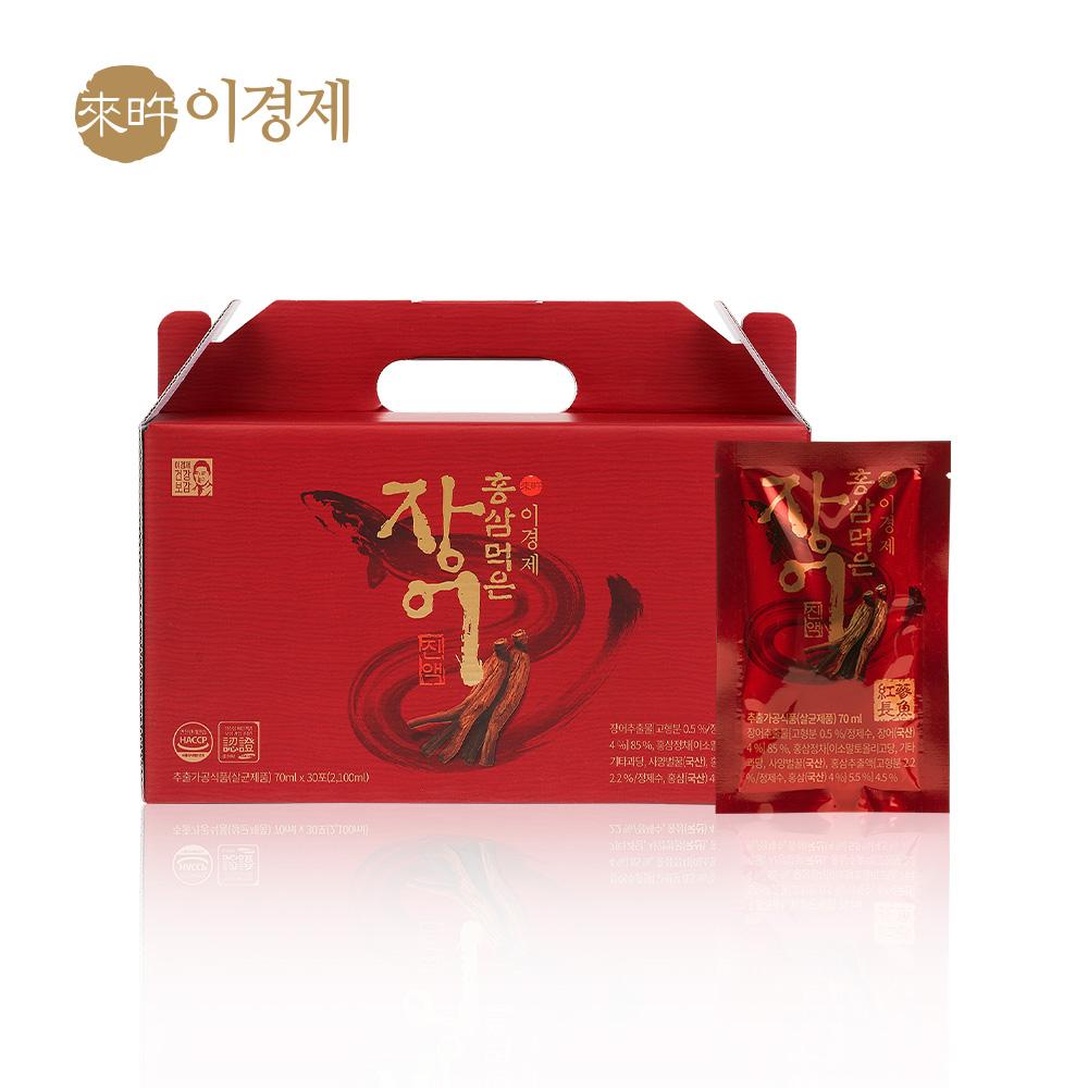 래오이경제 홍삼먹은 장어진액 70ml / 인포온 해피닥터, 30포