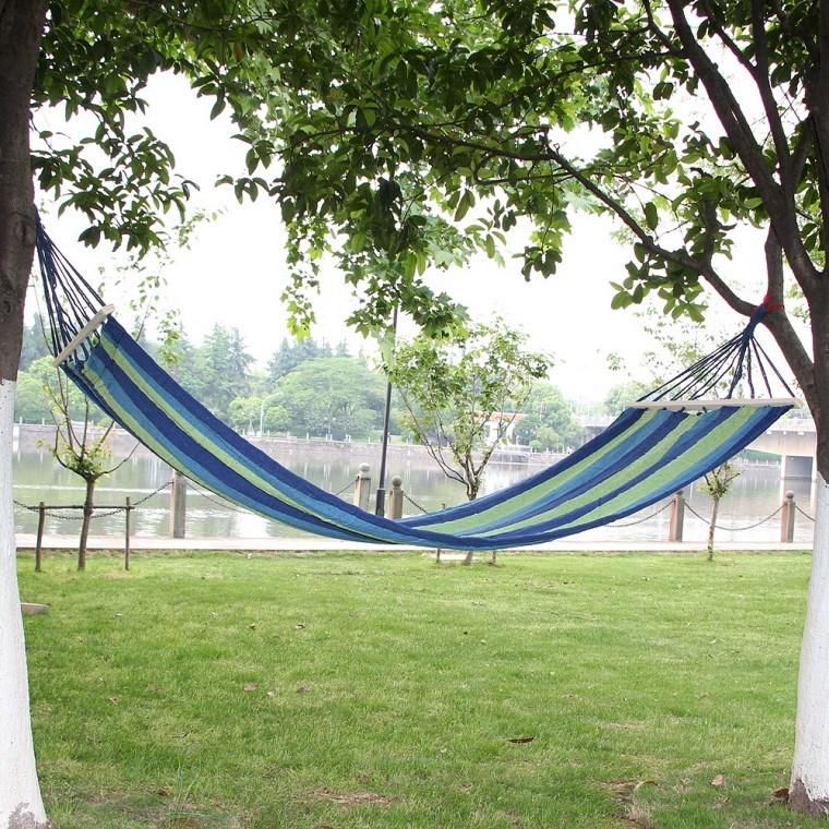 캠핑 해먹 침대 꿀잠 숙면 그물침대 야외 캠핑장 팬션용, 단품