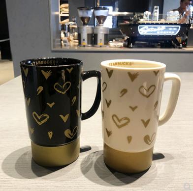 스타벅스 클래식 머그컵 크리스마스 기념품 AU_B804864242_NE, 사이즈, 스타벅스 클래식 러브 흑백 커플 커피 페어 컵