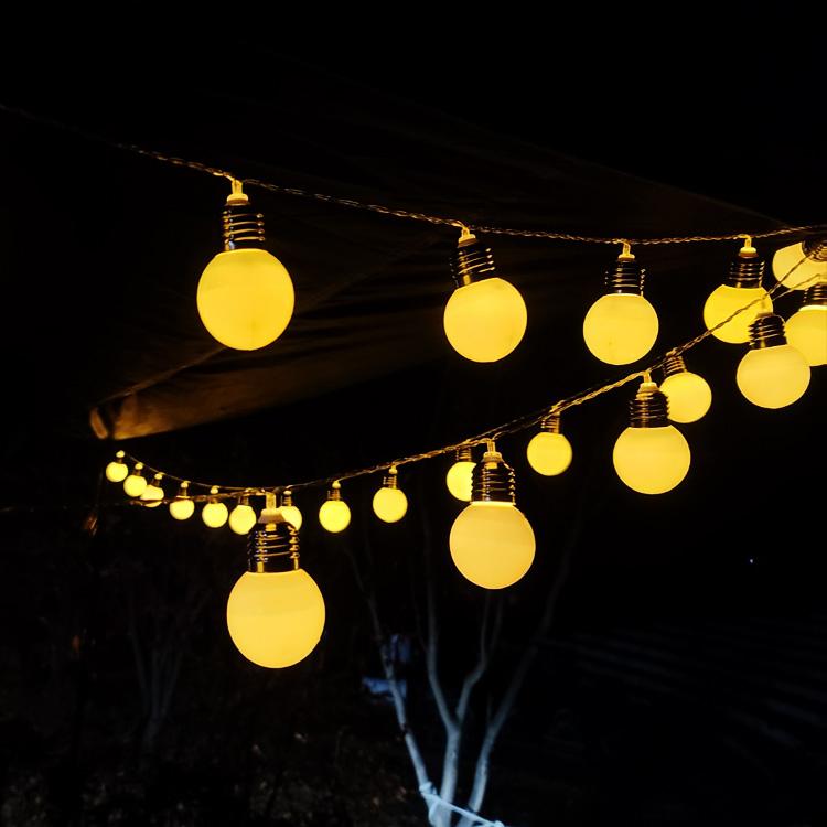 [투썬빌리지] [갬성조작] 로맨틱 빅볼 LED 국민조명 6M 3M, 01_롱롱 가렌드빅볼6m 40등_1개