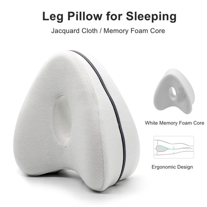 다리베개 심장 모양의 베개 수면 용 베개 다리 포지셔너 베개 다리 사이 무릎 다리쿠션, 하얀 (POP 5026047918)