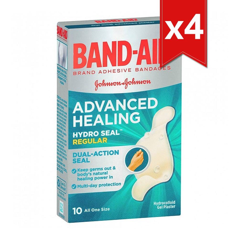[밴드에이드] 어드밴스 힐링 습윤밴드 레귤러 Advanced Healing Adhesive Bandages 총 40매(10입x4팩), 10매입, 4팩 (POP 2020330838)