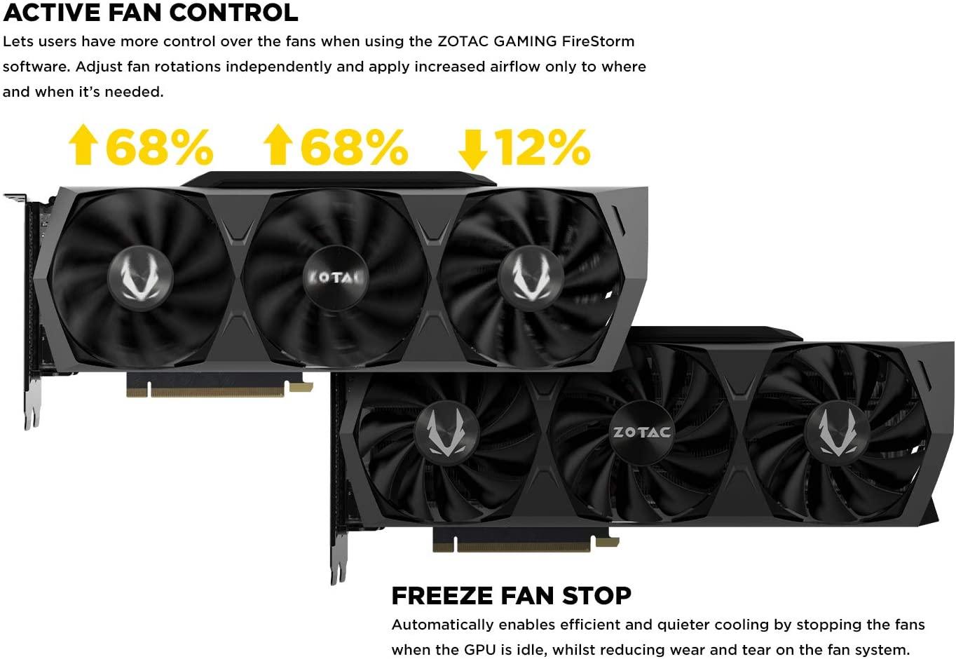(관부가세별도) ZOTAC Gaming GeForce RTX 3080 Trinity OC 10GB GDDR6X 320-bit 19 Gbps PCIE 4.0 Gaming Graphics Card IceSt-B08HVV2P4Z, Trinity OCone size