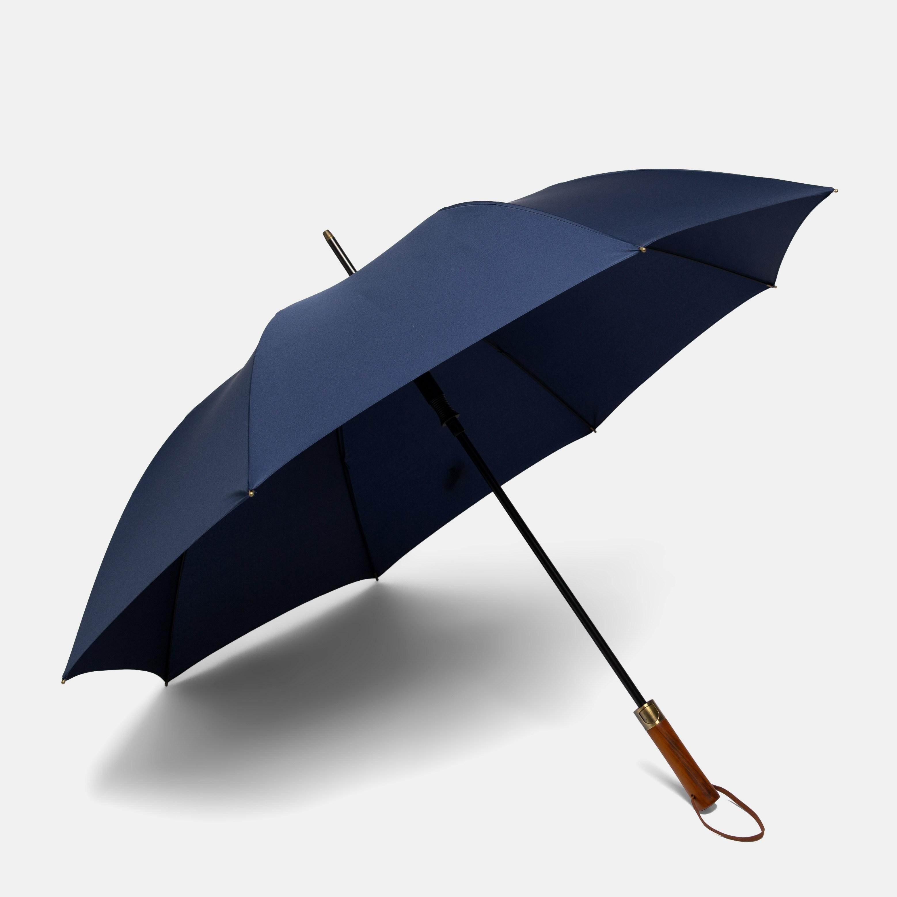 준성 JUNSUNG 일자 고급 원목 손잡이 대형 튼튼한 자동 장우산