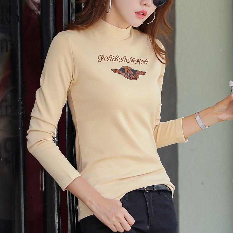 반폴라 기모 긴팔 티셔츠