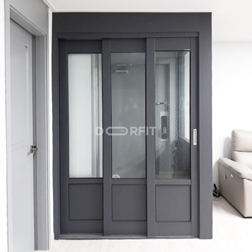 도어핏 아파트 현관중문 3연동 일반형 중문