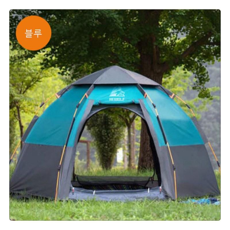 텐트 3-4인 전자동 호우방지 가후 방수 캠핑장비 캠핑커플LH0304, 6