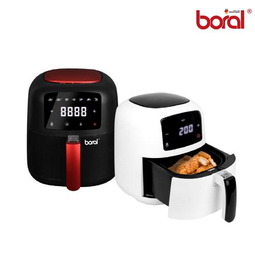 [보랄] Boral 더 셰프 BIG LCD 디지털 에어프라이어 5L, 화이트