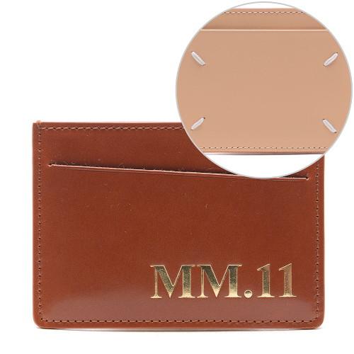 [메종마르지엘라] 20FW 남성 MM.11 스티치 카드지갑 (S35UI0449_P0215_H8308_20F)