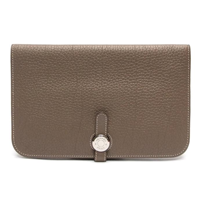 [뉴욕명품] Hermes(에르메스) 지갑 은장 토고 에토프 장지갑