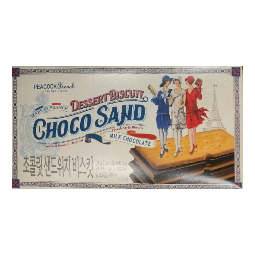 피코크 진하고 맛있는 초콜릿 샌드위치 135g 초코샌드위치