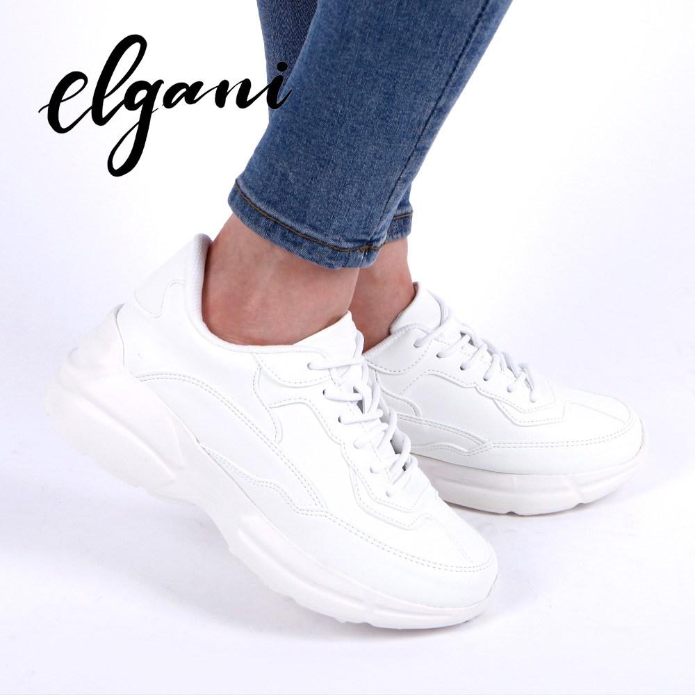 엘가니 어글리슈즈 남성 9cm 키높이 스니커즈 운동화 신발 화이트