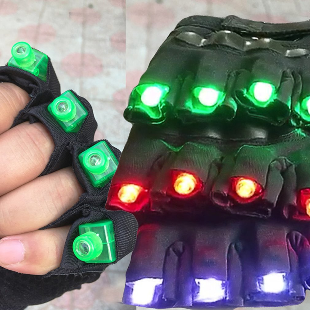 새로운 녹색 레이저 장갑 나이트 클럽 바 파티 댄스 가수 댄스 소품 DJ 기계 장갑 LED 라이트