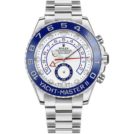 New Rolex Yacht-Master II White Dial Oystersteel Mens Luxury Watch 116680 PROD80004854