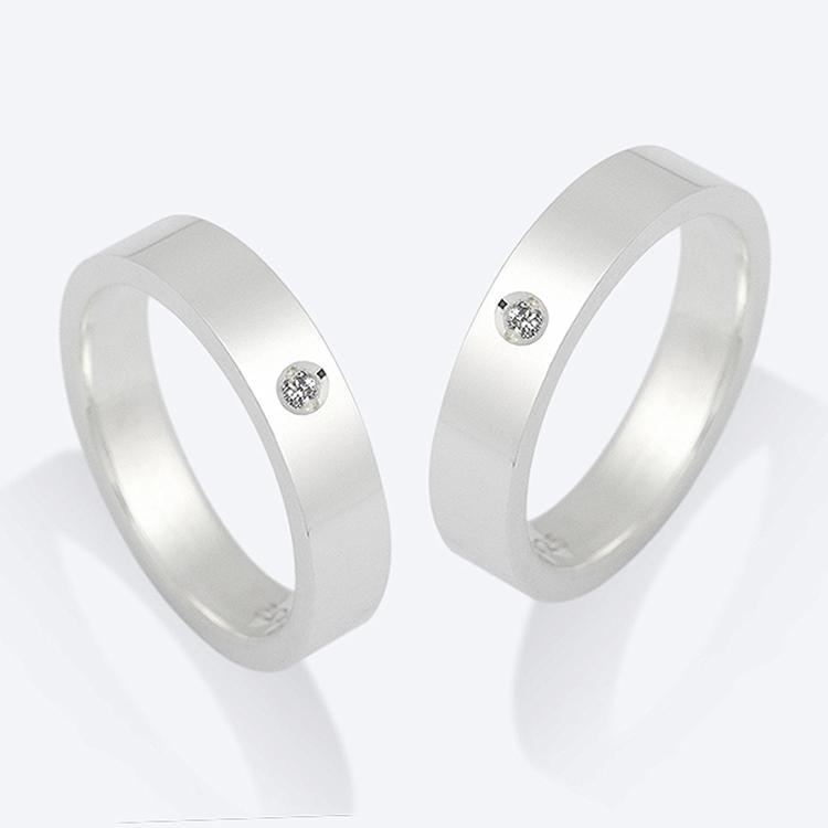 블렌도프 _오디너리 베이직 다이아몬드 커플 반지 [실버925] BDRG08 심플 실버 커플링
