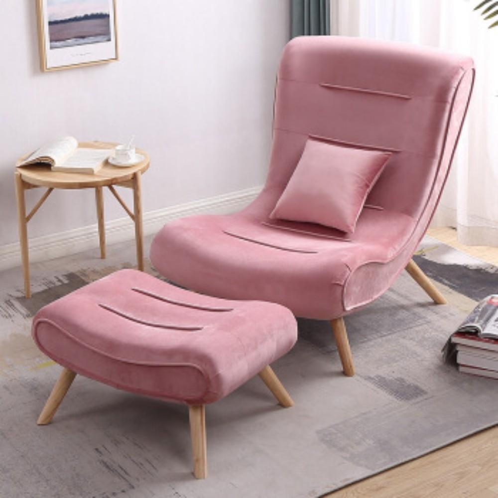 발받힘 디자이너 의자 북유럽 소파 1인용 달팽이 의자 침대 발코니 베란다 임스라운지체어 이몰라체어 이케아스트란드몬 로제까사안락의자 이케아펠로, 프레쉬 파우더 싱글 바운서+발걸이