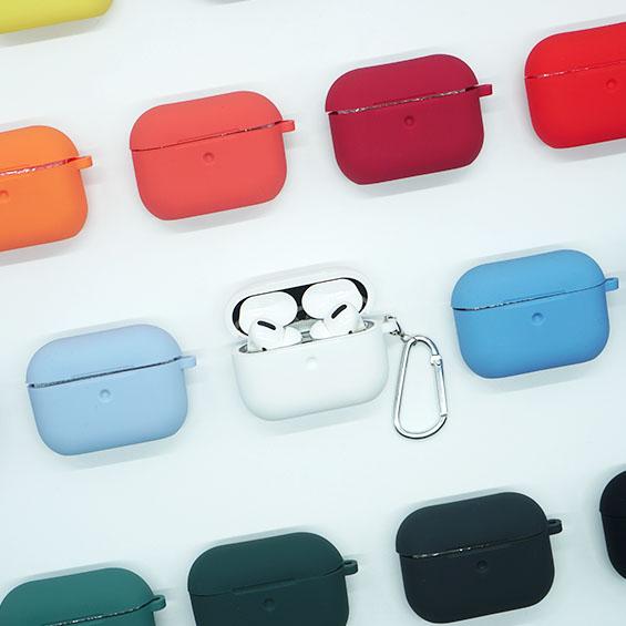 애플 에어팟 프로 실리콘 케이스, 연핑크