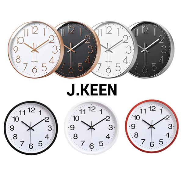 제이킨 프리미엄 저소음 벽시계 벽걸이시계 벽시계, 기본형_레드