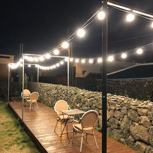 포유 파티조명 LED 포함 조명선 파티라이트 스트링라이트 오징어등 줄조명 트리조명 캠핑조명 방수야외조명, [1.야외조명 10구 전등선+LED벌브8w 10개: 전구색/노란빛]