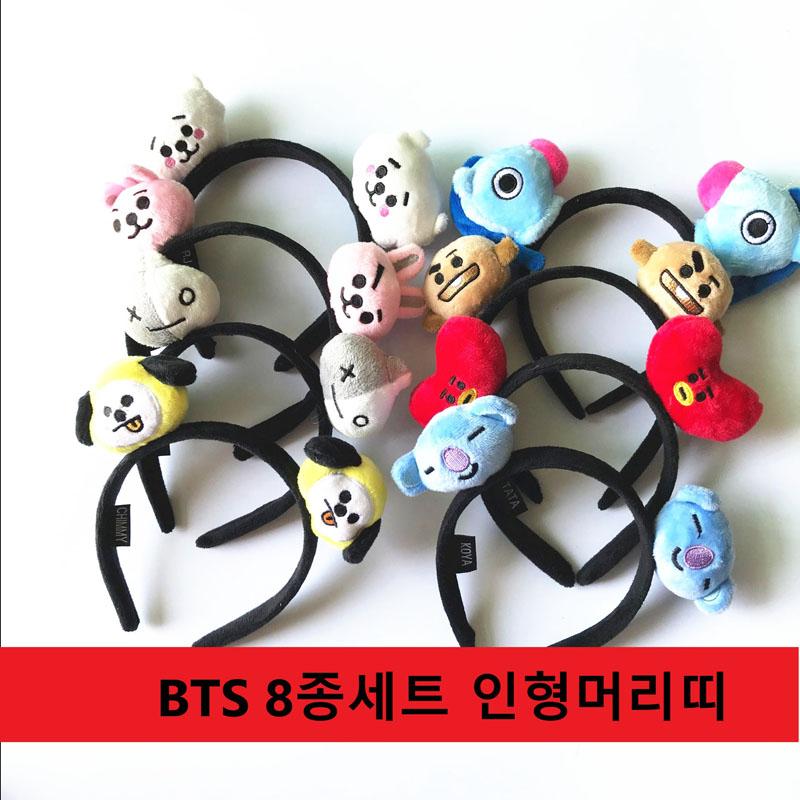 BTS 8개세트 인형 머리띠
