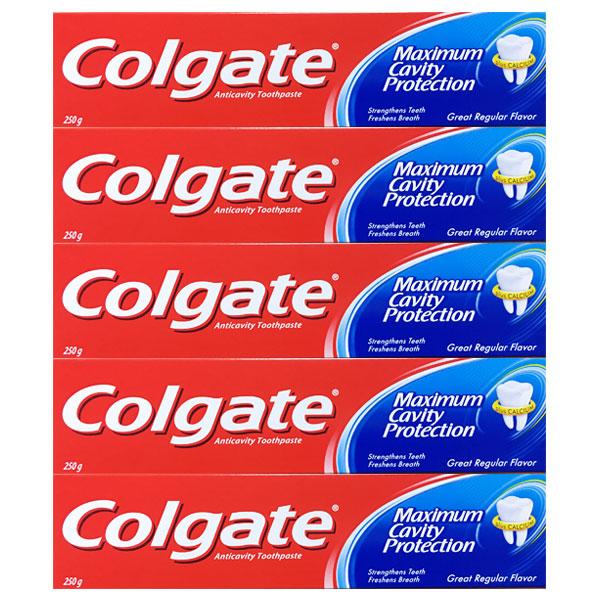 콜게이트 그레이트 레귤러 치약 250g X 5개입, 단품