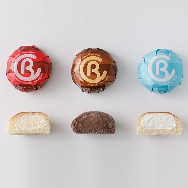 푸딩팩토리 크림바바 커스타드/초코/생크림빵 3종, 커스터드2팩/초코2팩/생크림2팩