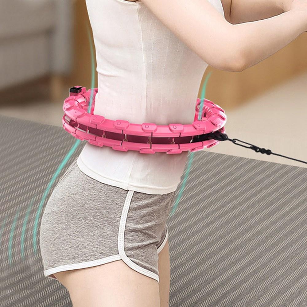 핀처 스마트 이지 훌라후프 코어스핀 핑크 훌라링 뱃살운동 복부 지압 마사지 홈트레이닝