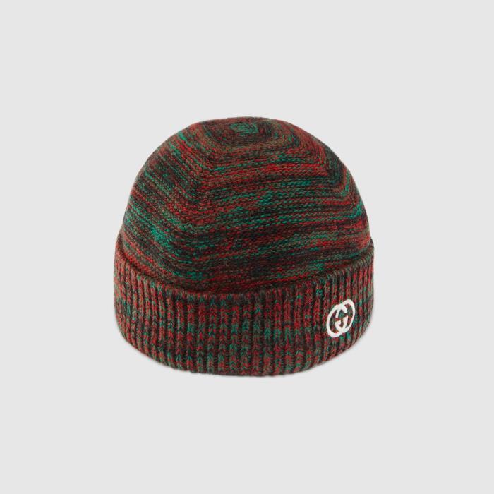 구찌 Wool hat with Interlocki.. 649684 4GAAQ 3174