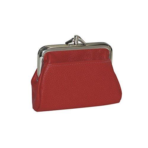 벅스턴 여성복 가죽 3박스 동전지갑 신용카드 보유자 지갑 (초오렌지)